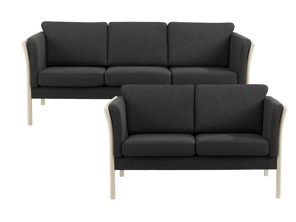 Rosenholm 3+2 pers. sofa i leman