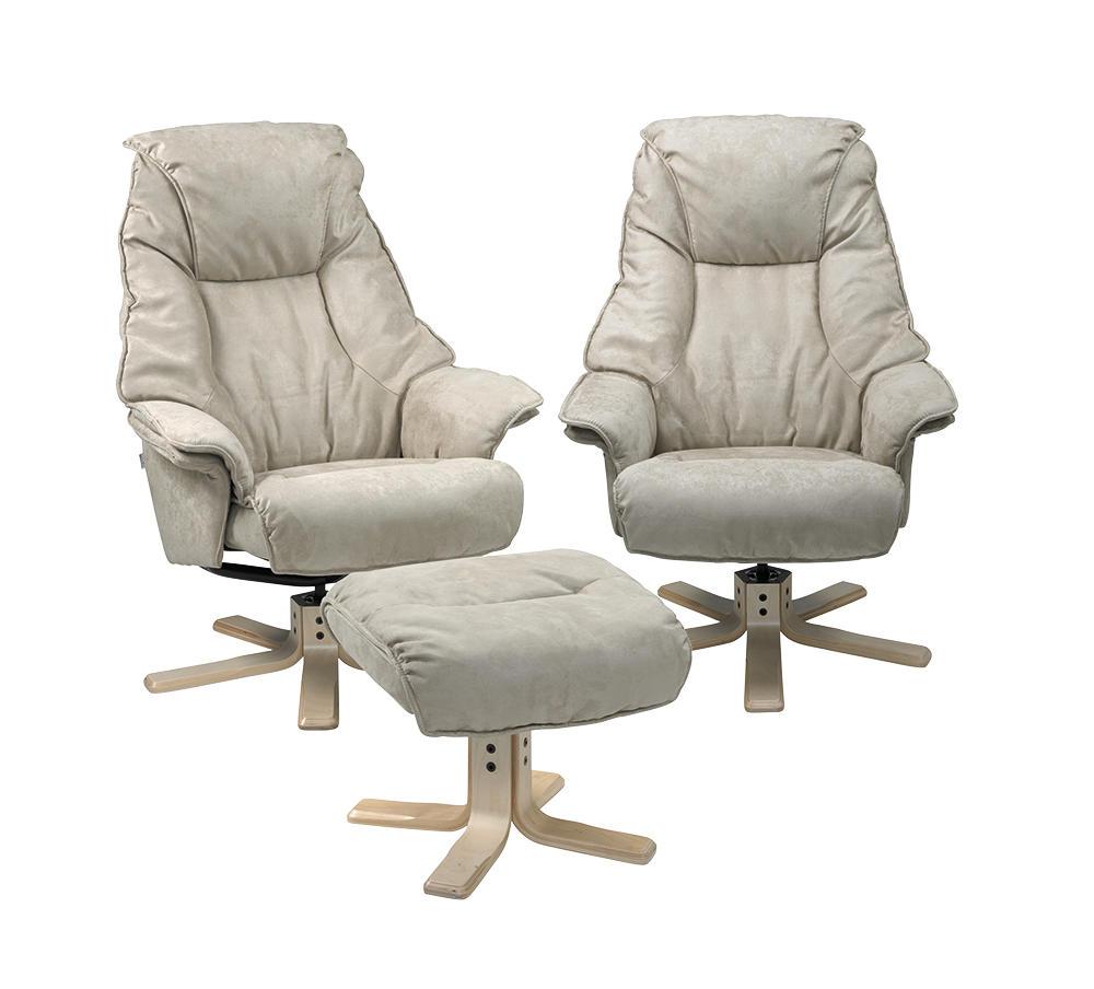 Image of   2 Siena lænestole og 1 fodskammel