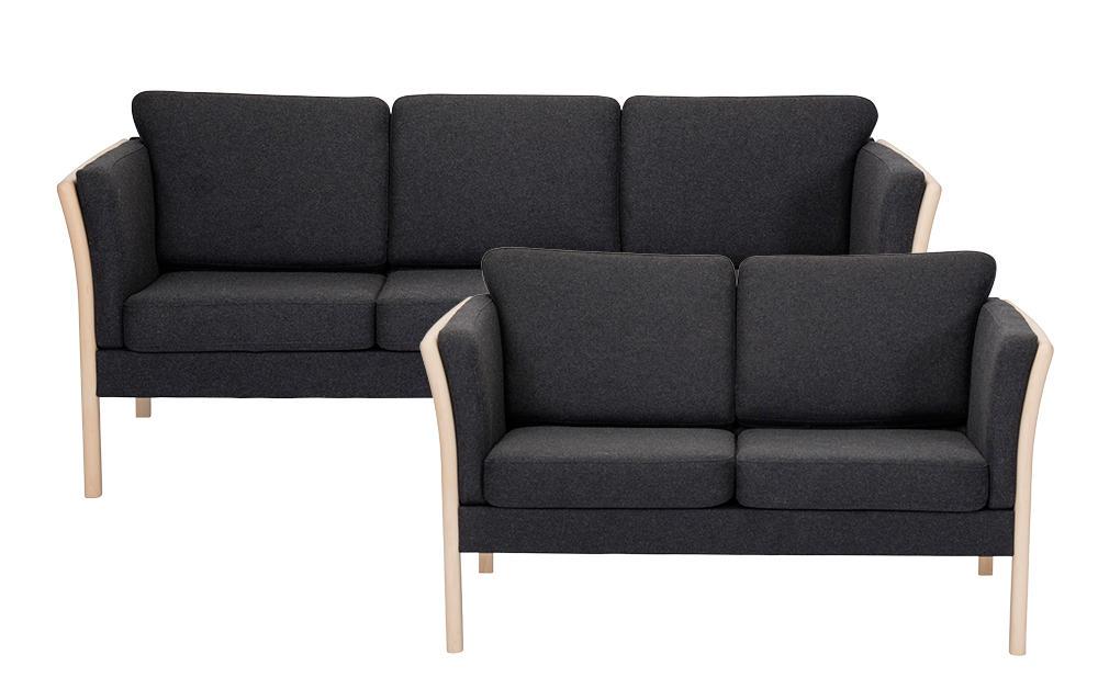 Rosenholm 3 og 2 pers sofa