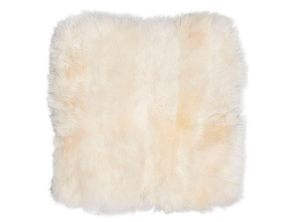 Image of 2 hvide lammeskindsædehynder