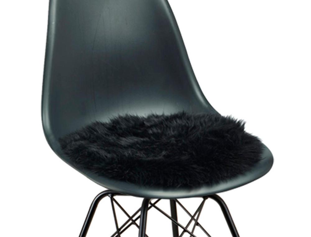 Image of   2 sorte runde sædehynder