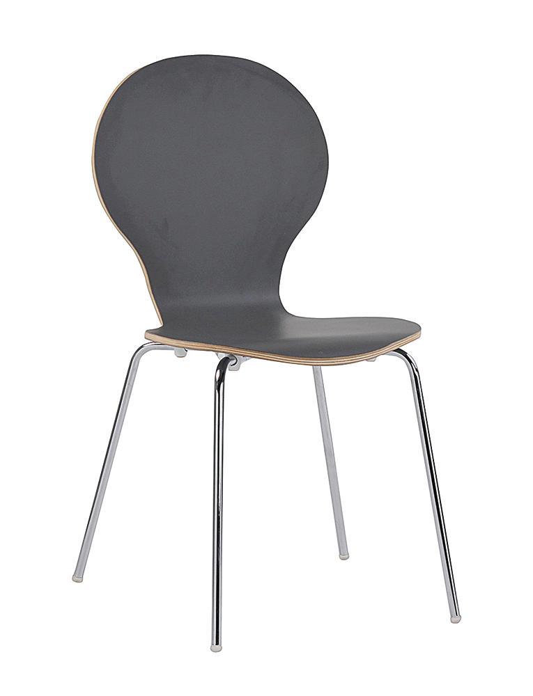 Fusione grafitgrå skalstol