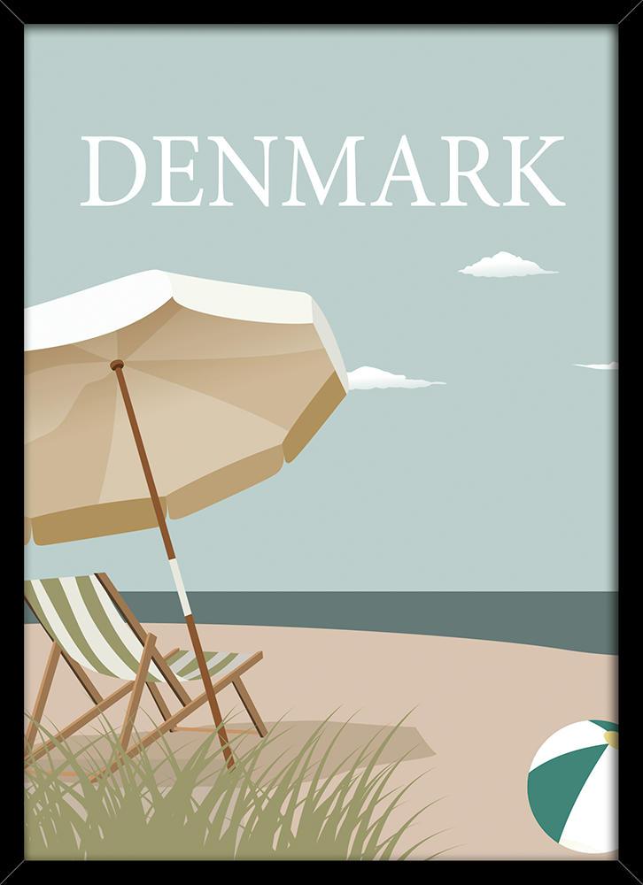 Image of   Denmark beach plakat