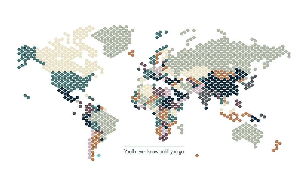 Image of   GO White verdenskort
