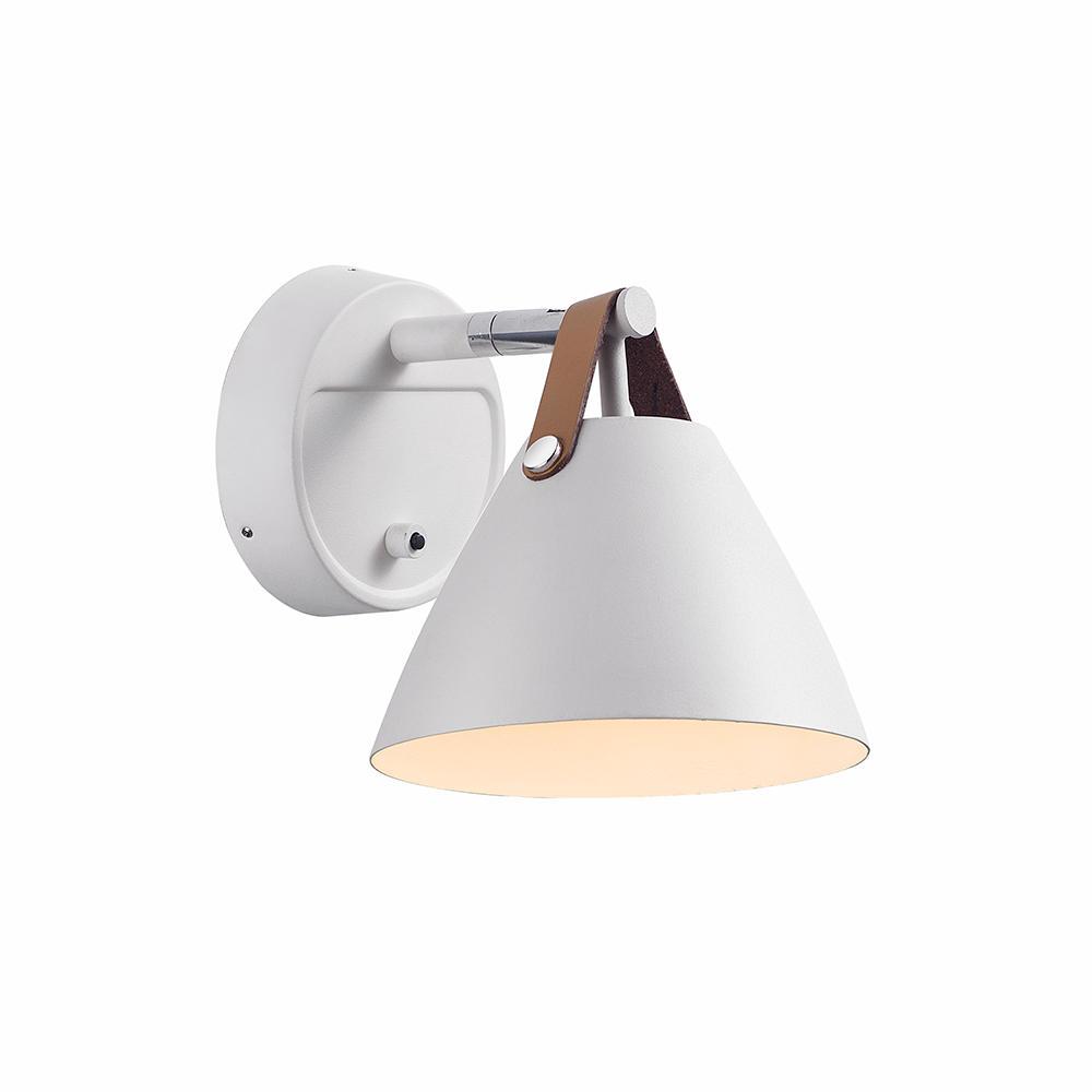 Billede af Strap 15 hvid væglampe
