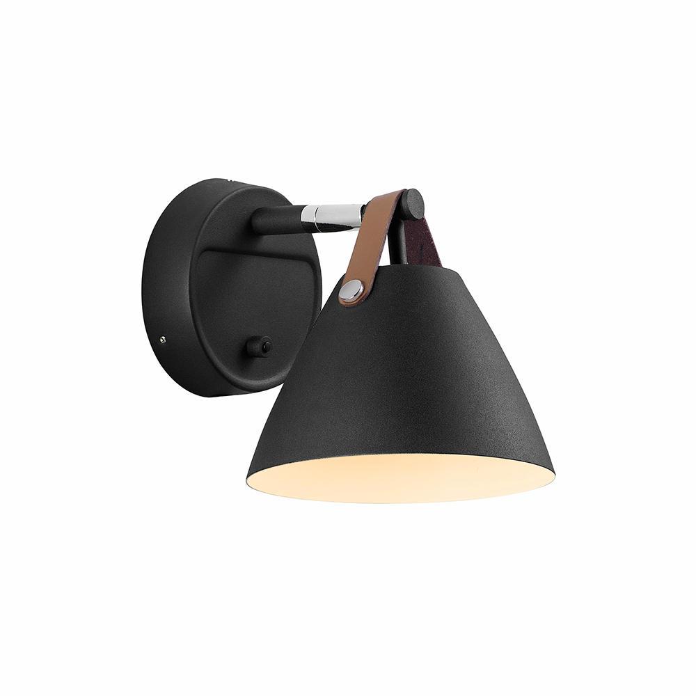 Image of   Strap 15 sort væglampe