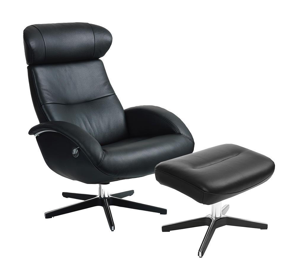Image of   Flow lænestol og fodskammel