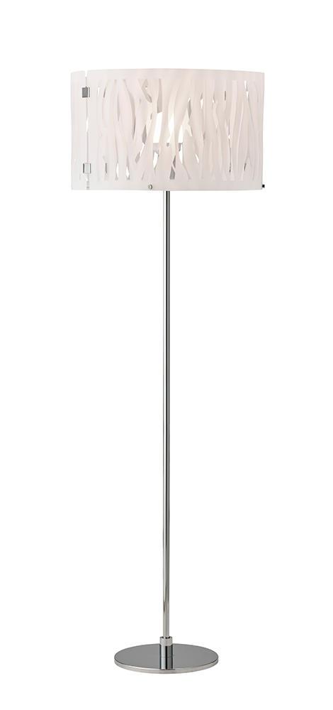 Image of   Grass hvid gulvlampe