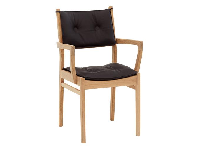 Saxo spisebordsstol bøg med armlæn
