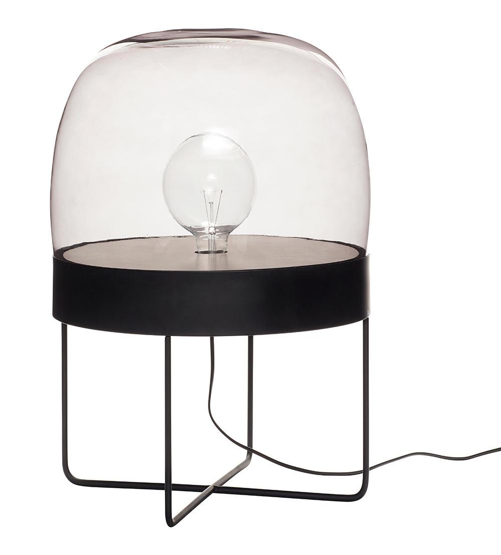 Image of   Gulvlampe med glasskærm