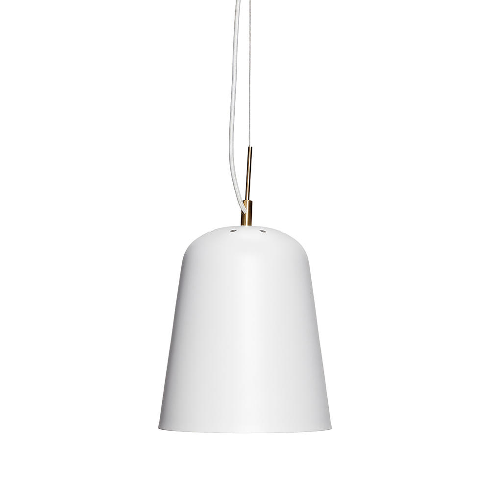 Image of   Hvid metal pendel