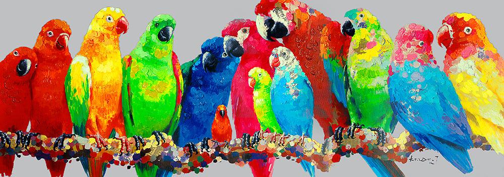 Image of   Mixed Media papegøje billede