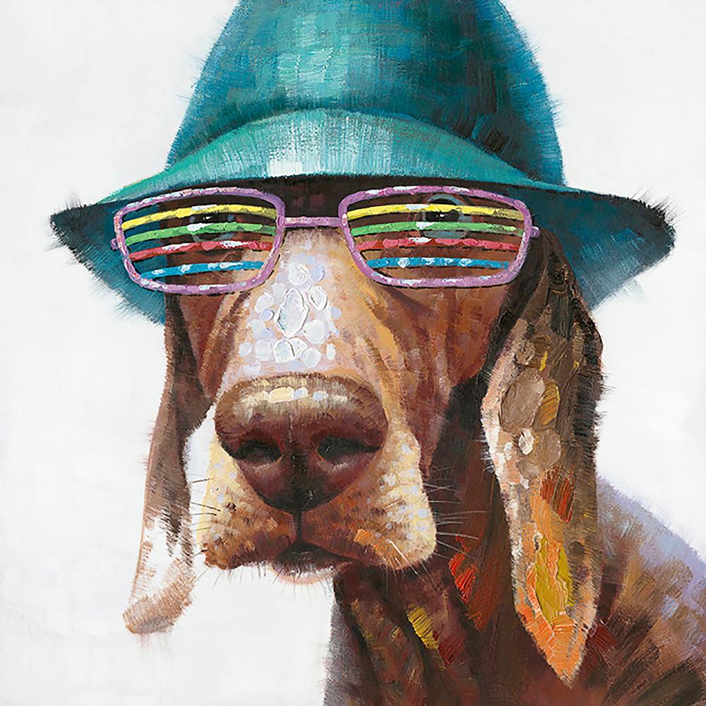 Image of   Mixed Media hund med solbrille