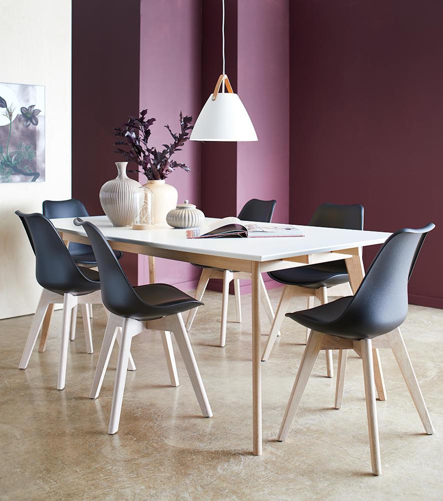 Image of   Modena bord og 4 Mille spisebordsstole