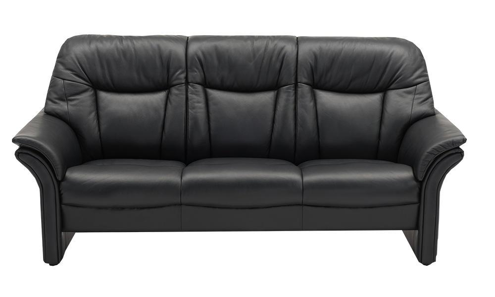 Image of   Chicago høj 3 pers. sofa i semi/spalt læder
