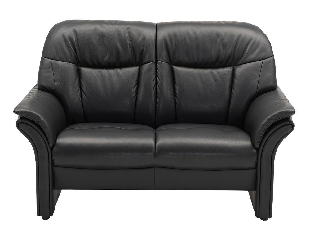 Image of   Chicago høj 2 pers. sofa i semi/spalt læder