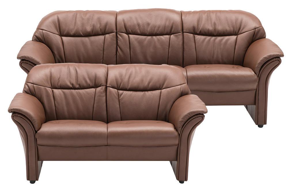 Image of   Chicago 2125 3+2 pers. sofa i espressofarvet læder