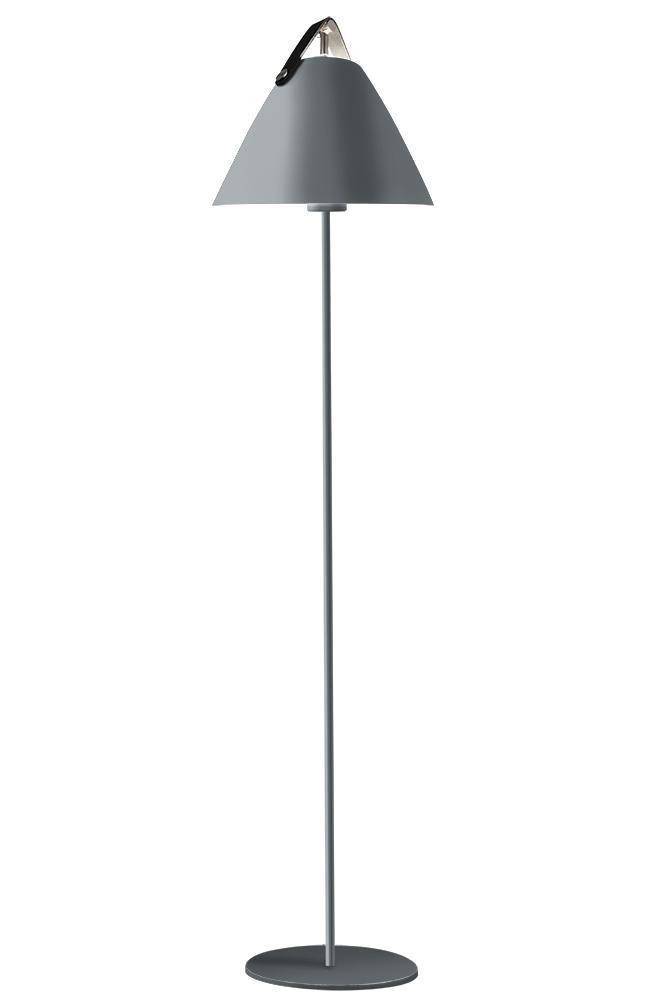 Strap grå gulvlampe