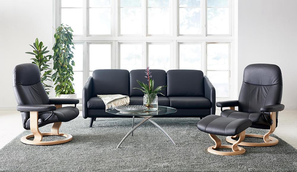 Stressless Eve 3 pers sofa og 2 stk. Garda lænestole