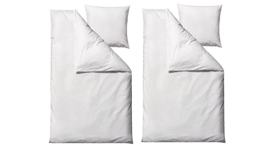 Image of   Södahl Edge sengetøj 2 sæt hvid