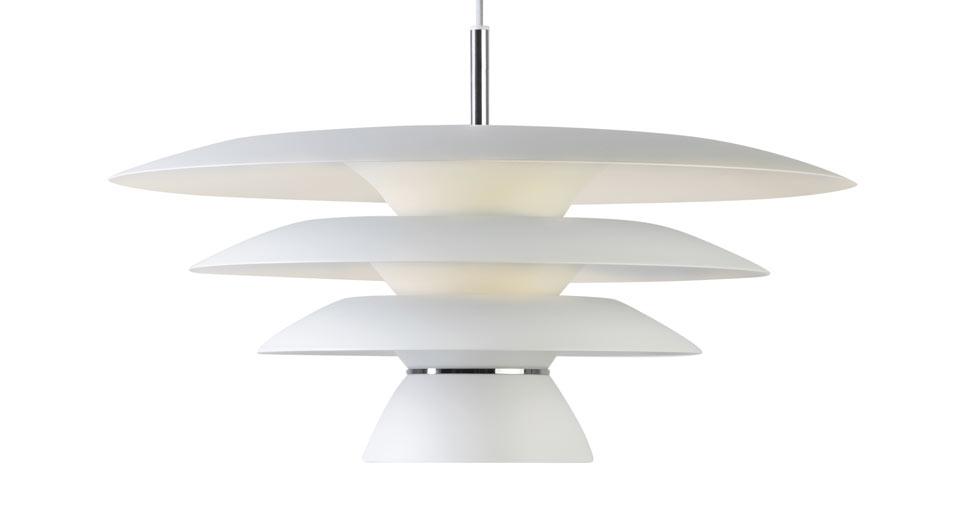 Image of   Da Vinci pendel mat hvid Ø50
