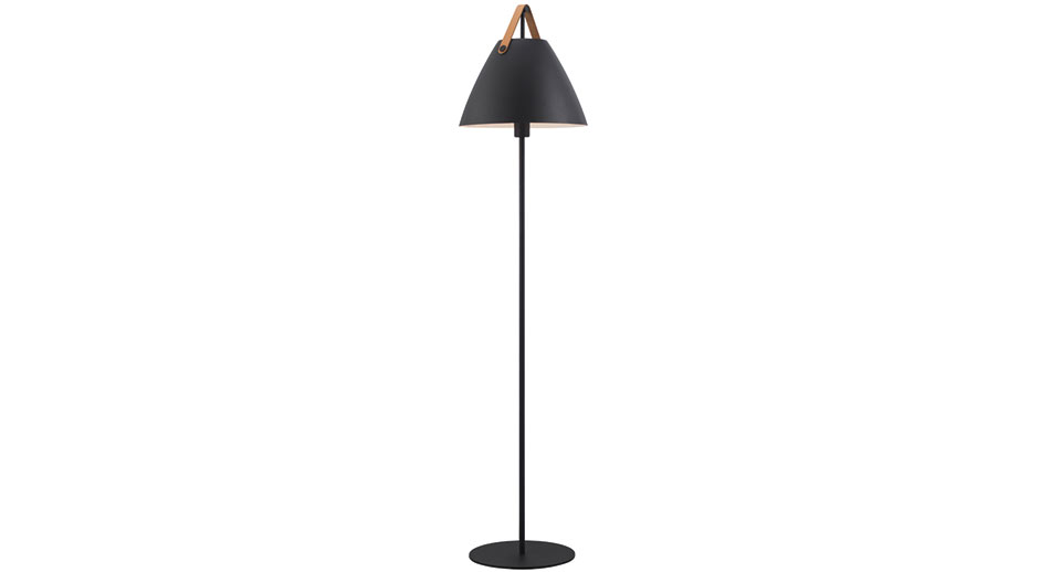 Image of   Strap sort gulvlampe