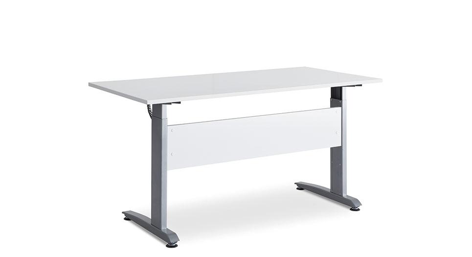 Image of   Hæve sænkebord hvid/alu