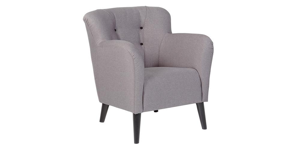 Image of   Retro lænestol i grå