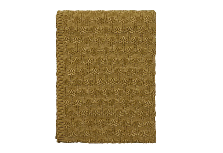 Image of   Södahl deco knit plaid golden
