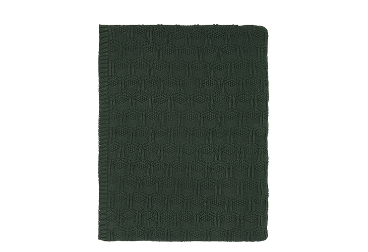 Image of   Södahl deco knit plaid deep green