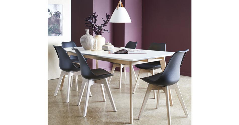 Image of   Modena bord og 6 Mille spisebordsstole