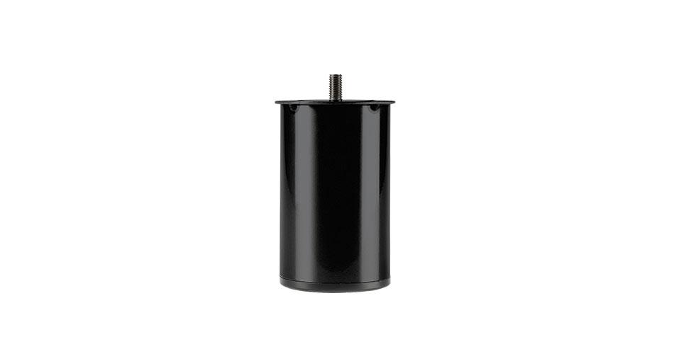 Image of   Runde stålben i sort
