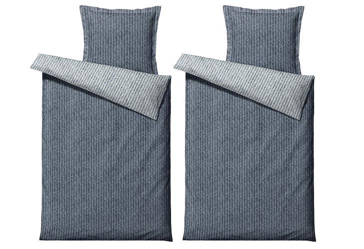Södahl braided sengetøj 2 sæt china blue