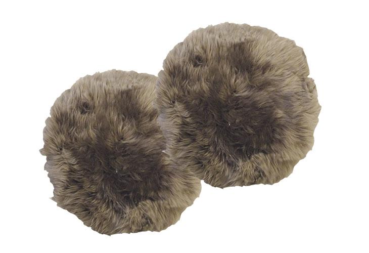 Billede af 2 runde lammeskind mushroom