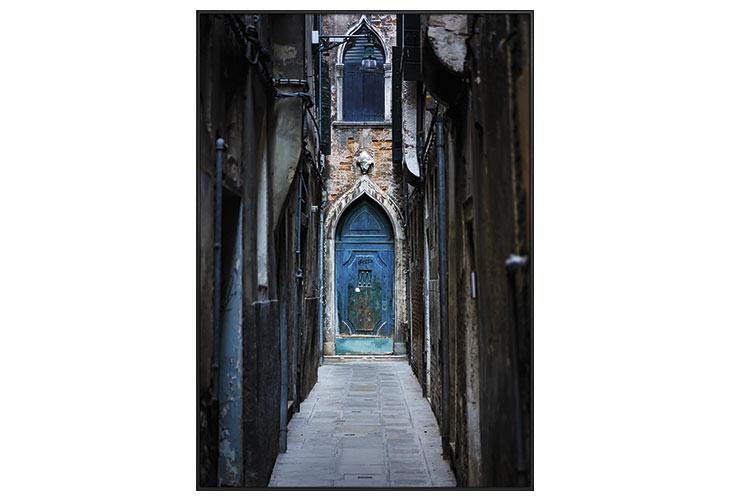 Image of   Blue door lærredstryk