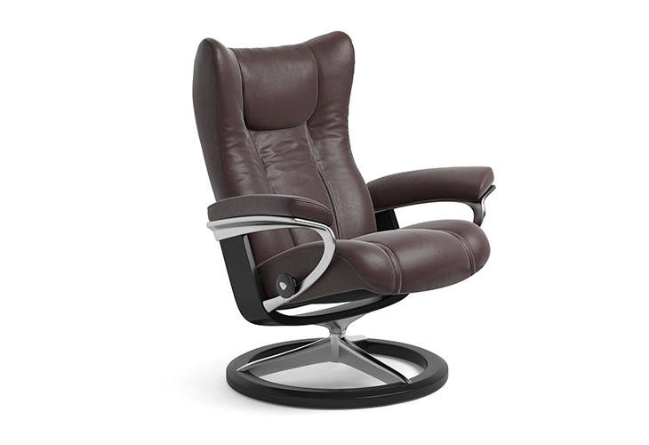 Image of   Stressless Wing lænestol med Signature stel