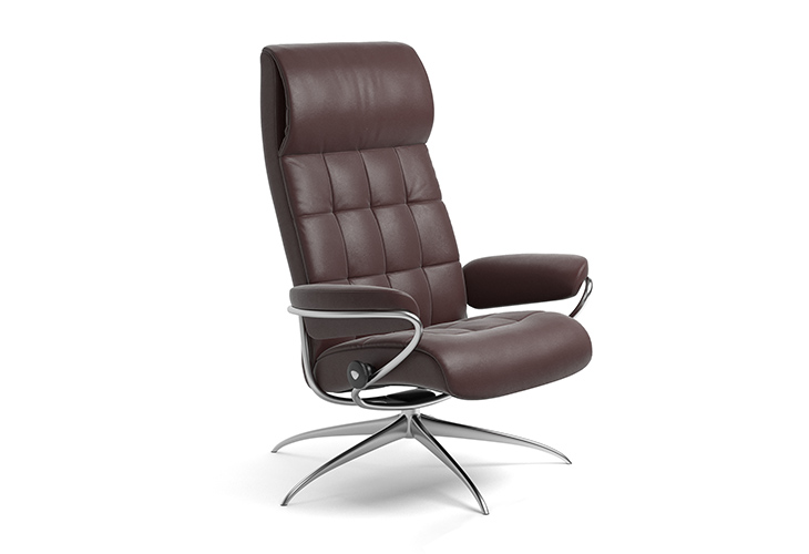 Billede af Stressless London lænestol med høj ryg