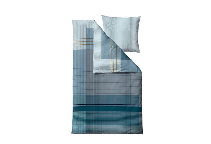 Billede af Södahl Fine Lines sengesæt indigo