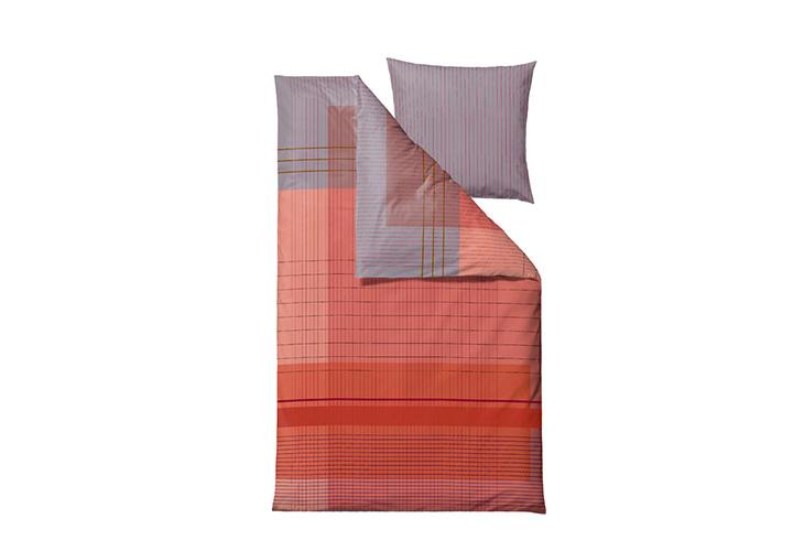 Södahl Fine Lines sengesæt terracotta