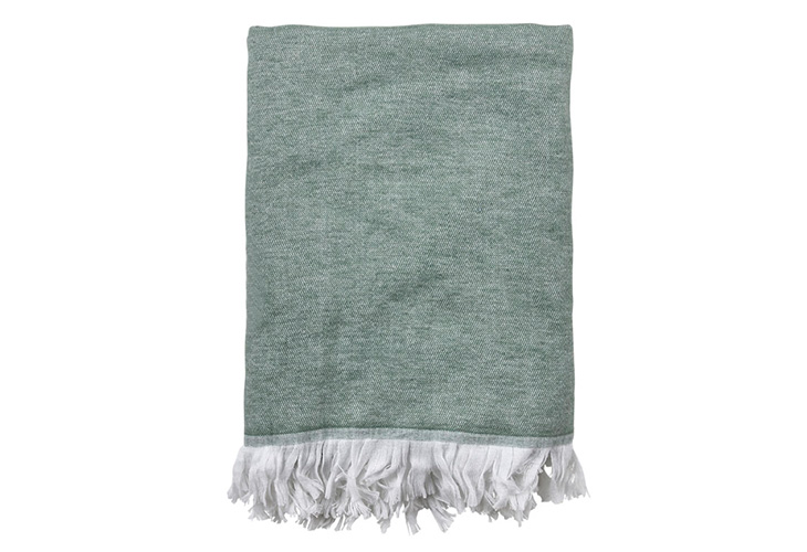 Image of   Södahl Soft plaid leaf green