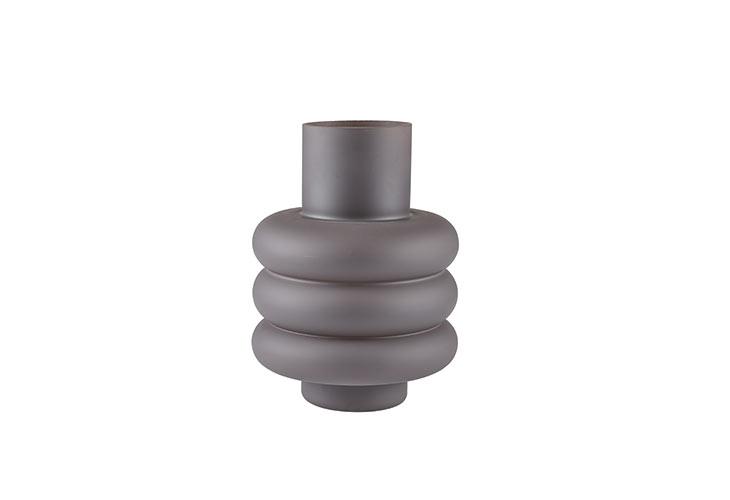 Billede af Vase grå glas