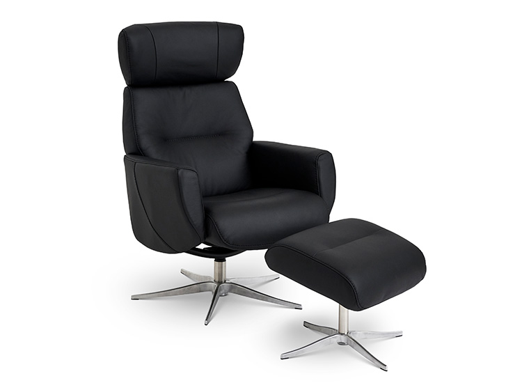 Image of   Global Comfort Stockholm lænestol med fodskammel