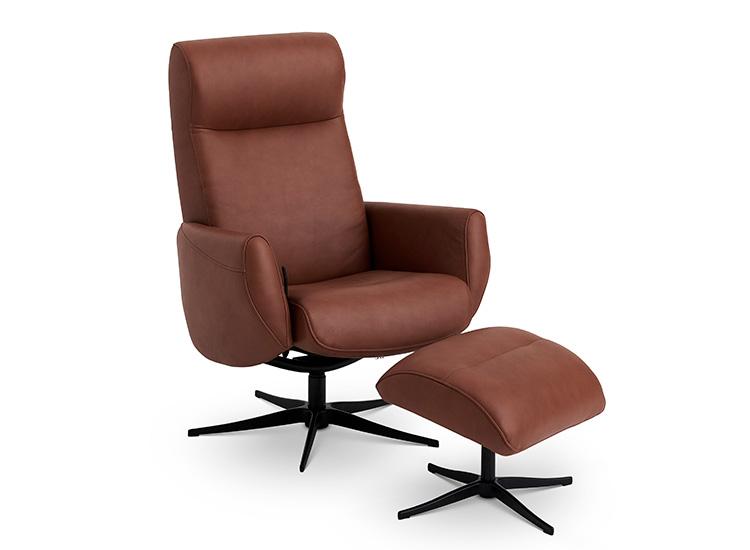 Image of   Global Comfort New York lænestol med fodskammel