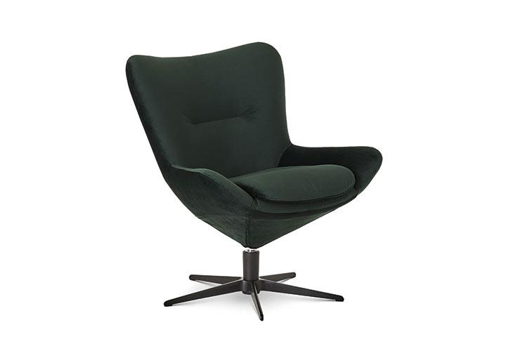 Image of   Lotus velour grøn lænestol