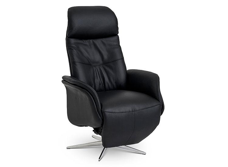 Image of   Global Comfort Denver medium lænestol med indbygget fodskammel