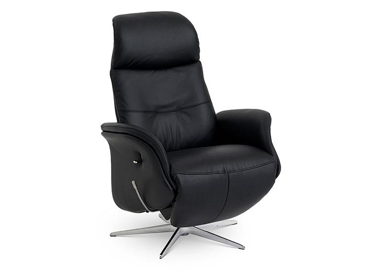 Image of   Global Comfort Denver small lænestol med indbygget fodskammel