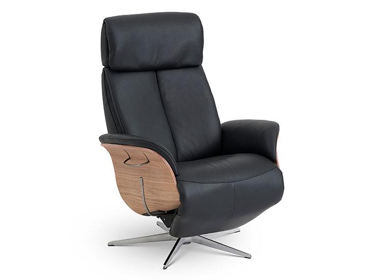 Image of   Global Comfort Ventura small lænestol med indbygget fodskammel
