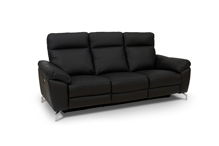 Image of   Dallas 3 pers. sofa sort læder