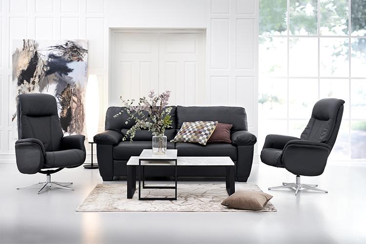 Image of   Manzano 3 pers. sofa og 2 stk Prag lænestole