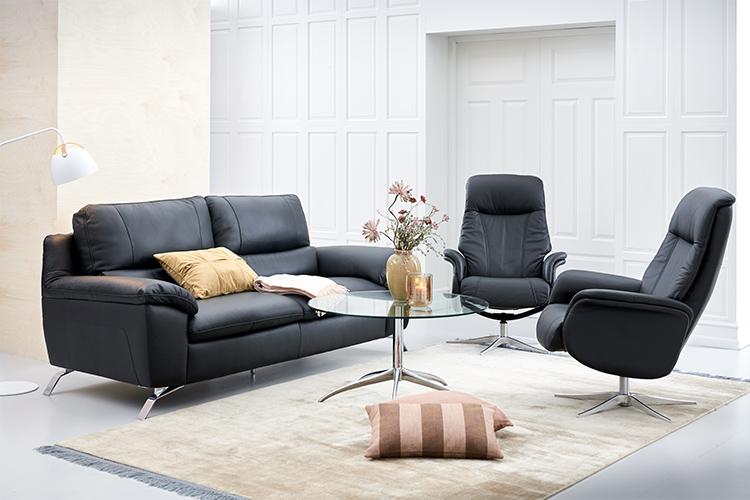 Image of   Matera 3 pers. sofa og 2 stk Prag lænestole